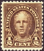 Nathan Hale Half Cent Stamp