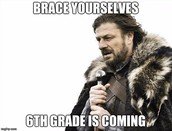 Welcome To 6th Grade!