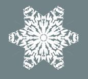 No Fail Way to  Make a Six-Point Snowflake