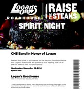 Logan's Fundraiser Ticket!!!