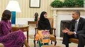 Malala met President Obama: October 11, 2013