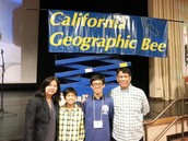 Brian with his Family at the State Geographic Bee
