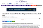 "The Conclusion - Nonfiction: ""10 Artistic Careers With the Brightest Futures: NEA and BLS"" hosted by Huffington Post"