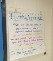 Mrs. Bennett's students all signed their Essential Agreements
