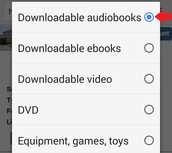 "Tap the circle next to ""Downloadable ebooks."""