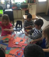 Drawing and cutting out shapes