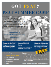 Announcing GEAR UP's PSAT Summer Camp
