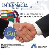 CONVOCATORIA INTERNACIA 2014-I