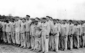 People about to enter a Concentration Camp