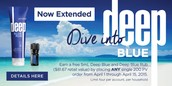 Deep Blue Promotion Extended through April 15th!
