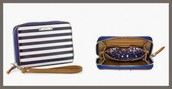 CHELSEA TECH WALLET - NAVY STRIPE $20 (65% off)