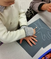 It was a challenge to trace our non-dominate hand...