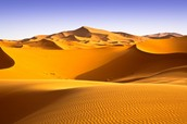 What are three facts about the Sahara desert?