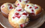 Strawberry and cream muffin