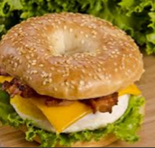 We have a darn burger bagel, try it...no pressure I guess
