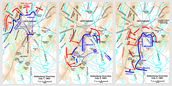 Map of the 3 days at the Battle of Gettysburg