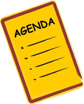 Agenda and the Groups in charge: