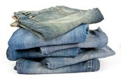 We sell tough denim jeans for miners