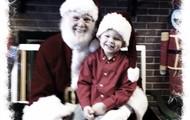 Caleb with Santa