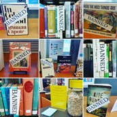 Banned Books Week Display Collage