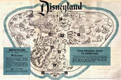 Map of Disneyland when it First Opened