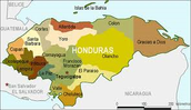 Honduras political map