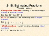 Estimating The Products Of Fractions With Compatible Numbers