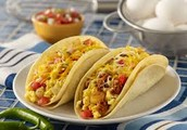 Serving Breakfast Tacos