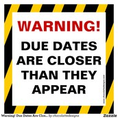 Upcoming DUE DATES