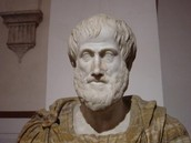 This is a sculpture of Aristotle.