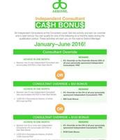 Independent Consultant Ca$h Bonus