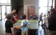 jugamos al ping pong