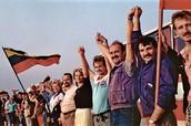 Lithuanians celebrating freedom