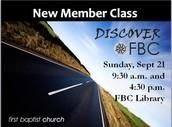 Discover FBC - New Member Class