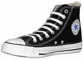 Product:Black Chuck Taylor's high tops