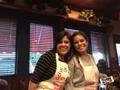 Mrs. Bustamante and Ms. Bustamante at spirit night.
