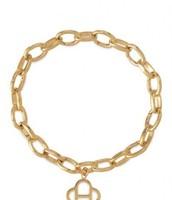 Signature link charm bracelet, gold - $35