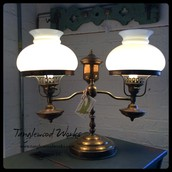 Antique Hurricane Double Lamp ~ $145