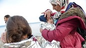 Madre refugiada
