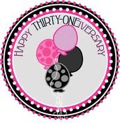 Happy 31 Anniversary!!!