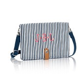 Double Up Crossbody in Navy Pinstripe 10% Off!