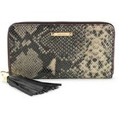 MERCER ZIP WALLET - BLACK SNAKE $40 (65% off)