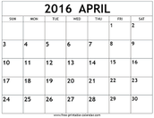 April Dates At A Glance