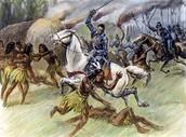 De Soto in battle