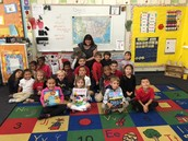 Kinder Class Recommends Books to School in Michigan