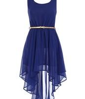 El vestido azul cuesta $30 dólares