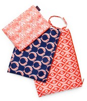 Zippy Pouch Trio - Marine Blue/Blush Multi