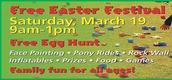 EASTER FESTIVAL SATURDAY FROM 9:00AM-1:00PM