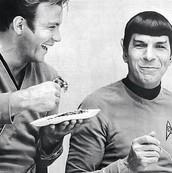 Treckies love pie.