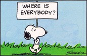 Where is Everyone this Week?